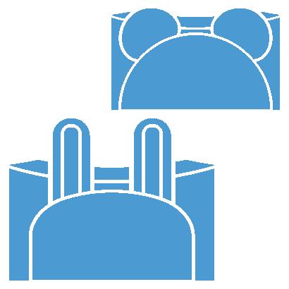組み立て時の形状も変更可能