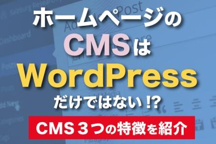 ホームページのCMSはWordPressだけではない!?【CMS 3つの特徴を紹介】