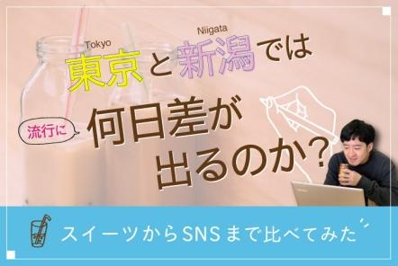 東京と新潟では流行に何日差が出るのか?【スイーツからSNSまで比べてみた】