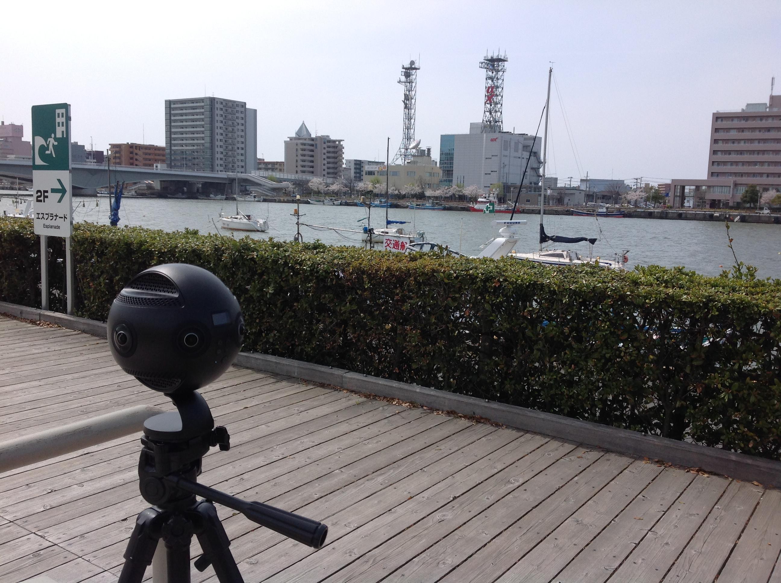 朱鷺メッセVR/360度撮影