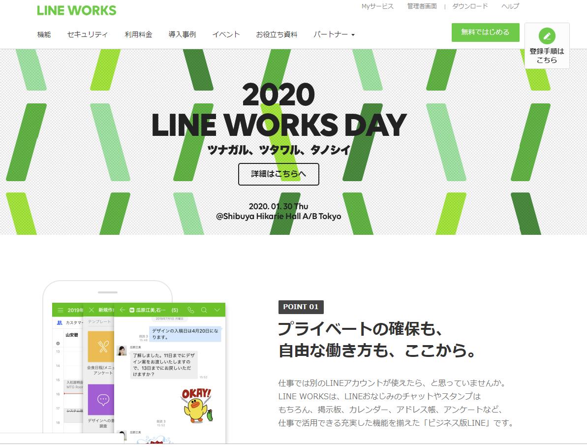 LINE WORKS画面