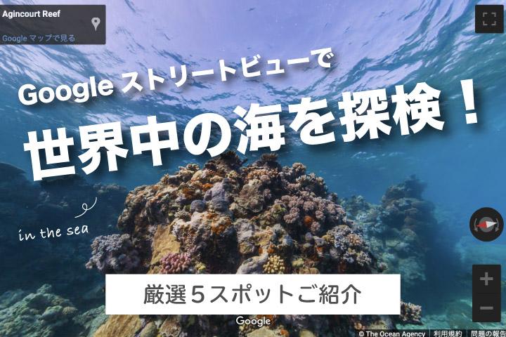 Googleストリートビューで世界中の海を探検!【厳選5スポット】