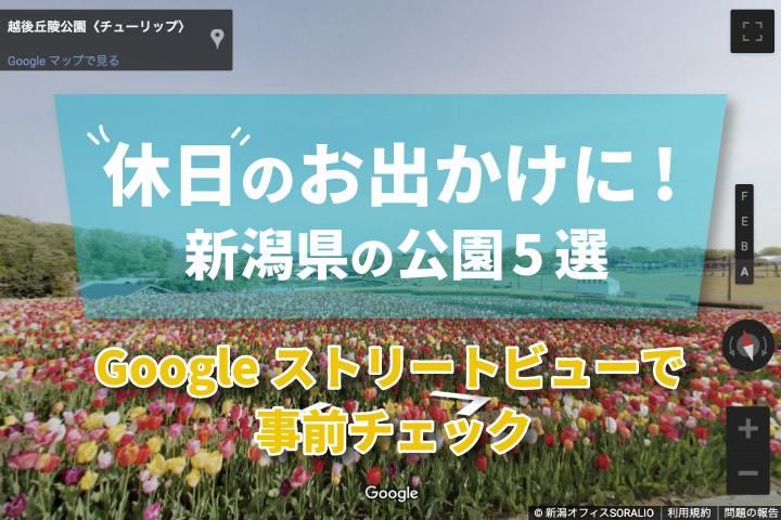 新潟県の公園5選【Googleストリートビューで事前チェック】
