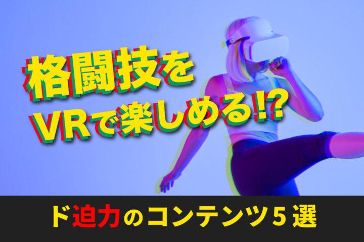 格闘技をVRで楽しめる!?【ド迫力のコンテンツ5選】