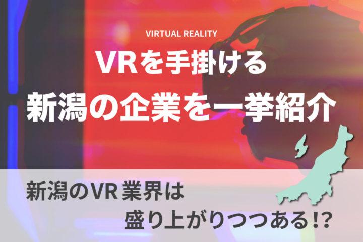 新潟でVR制作の依頼ができる企業8社【新潟のVR業界は盛り上がりつつある!?】