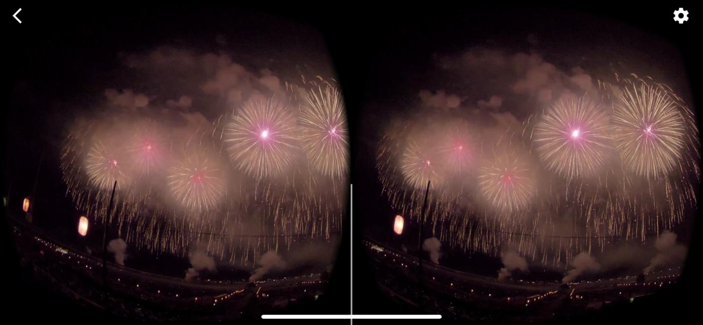 VR動画 VRモード