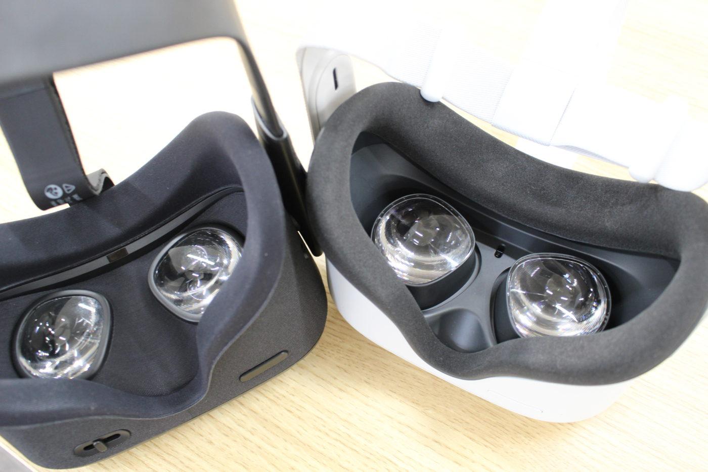 Oculus Questとレンズを比較