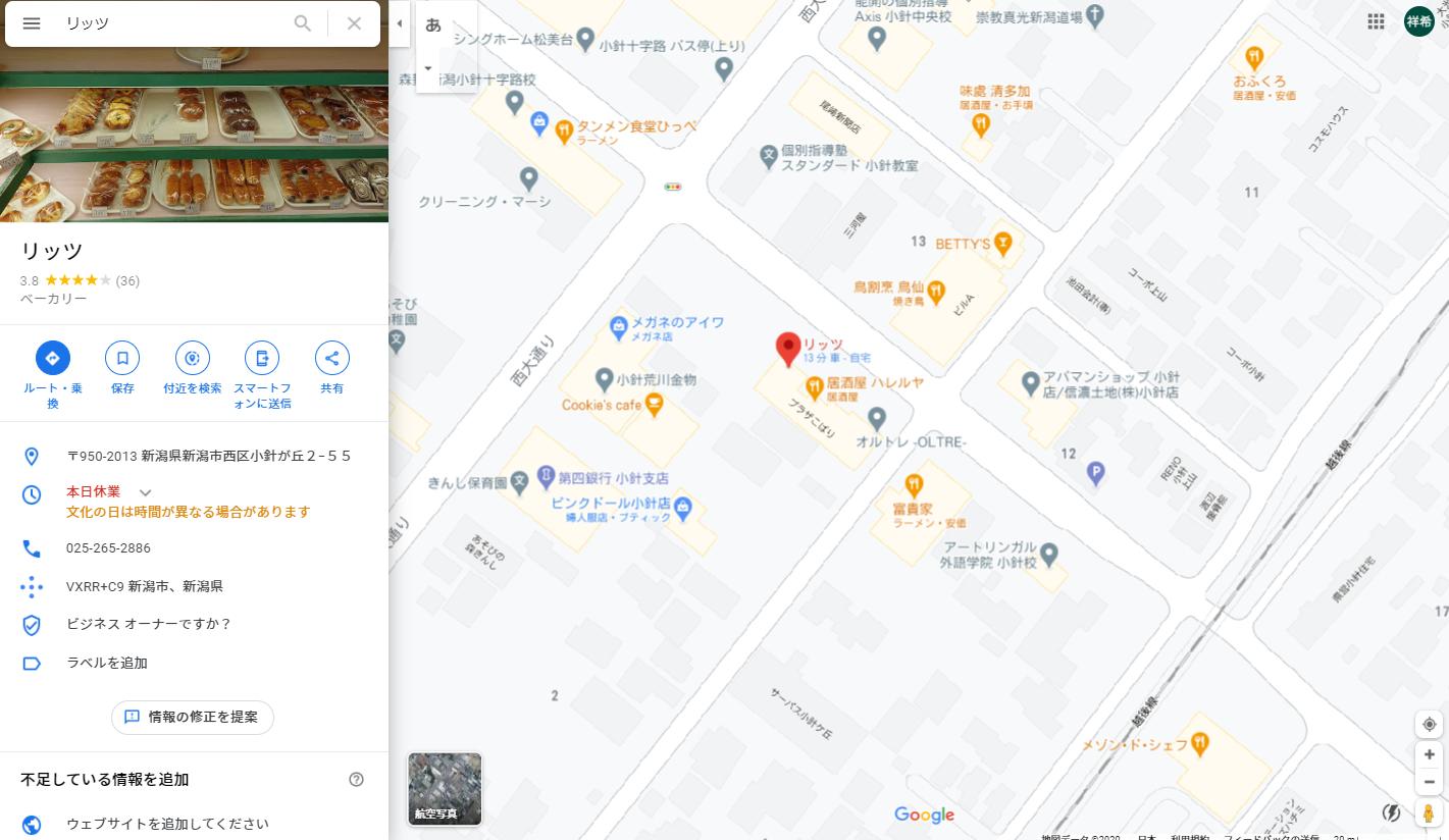 リッツ地図