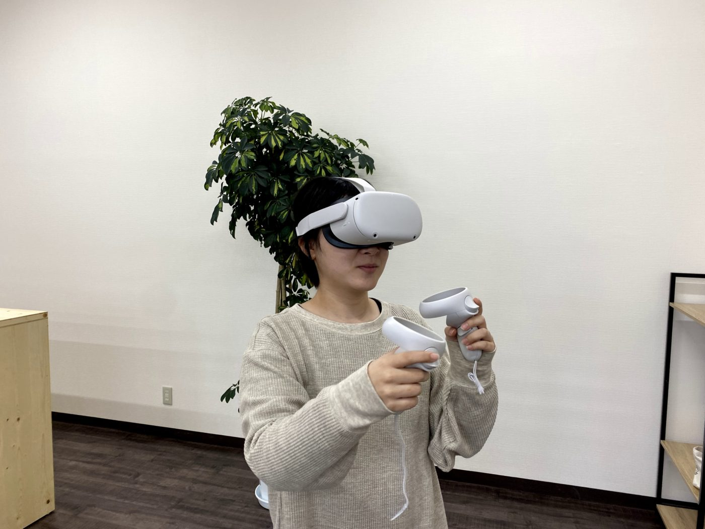 Oculus Quest 2を使っている様子